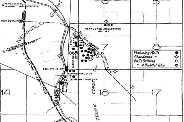 elsmere canyon oil well locations